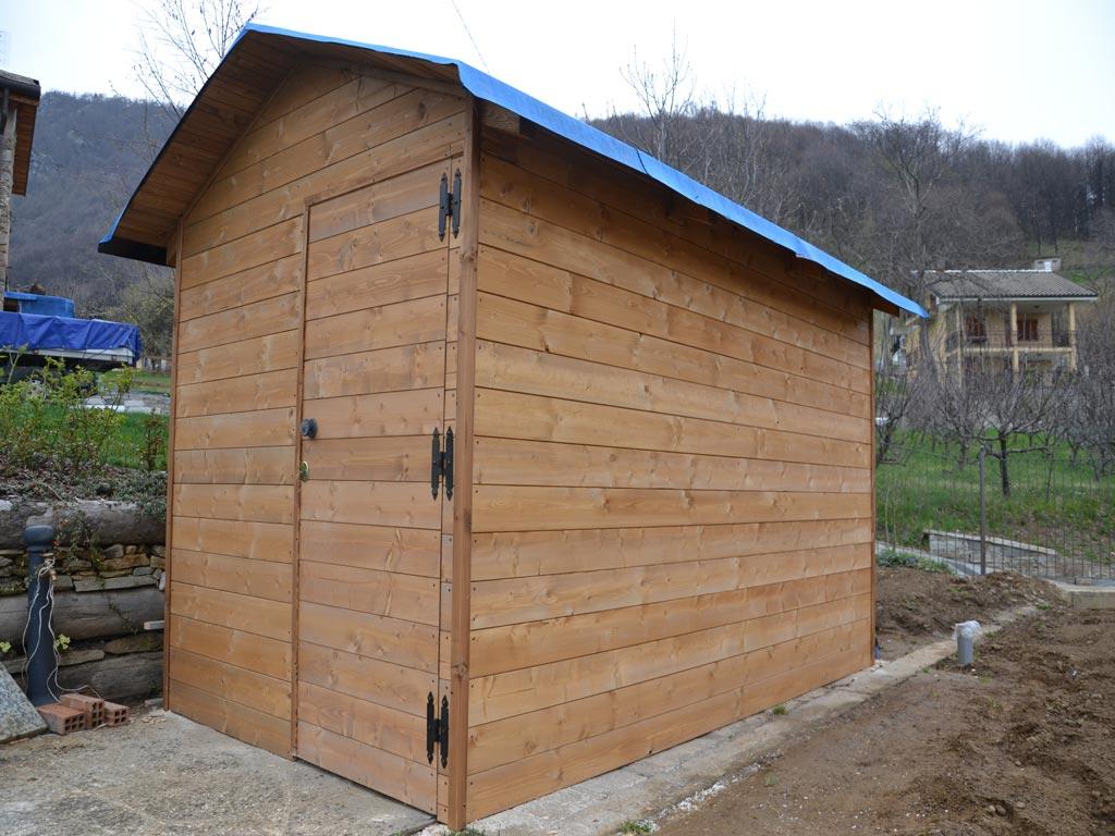 Tettoie e casette in legno falegnameria tomatis for Casette legno economiche